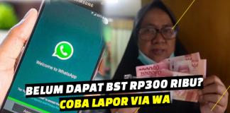 Email dan nomor Whatsapp Layanan Pelaporan BST Rp300 ribu 3
